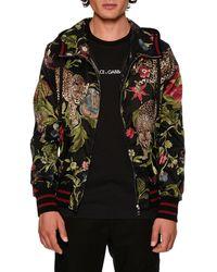 Dolce & Gabbana - Floral Leopard-print Wind-resistant Jacket - Lyst