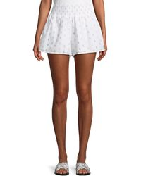 Lovers + Friends - Lynn Smocked Dot-print Shorts - Lyst