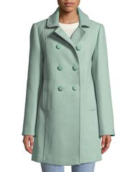 Kate Spade - Wool Twill Double-breasted Coat - Lyst