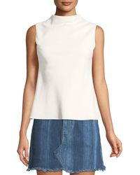 Brandon Maxwell - Cowl-neck Crepe Blouse - Lyst