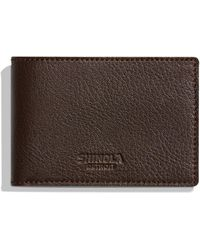 Shinola - Men's Luxe Grain Leather Super-slim Bifold Wallet - Lyst