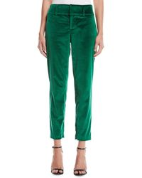 Alice + Olivia - Stacey Slim Velvet Ankle Pants - Lyst