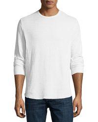 Vince - Double-knit Long-sleeve Crewneck T-shirt - Lyst