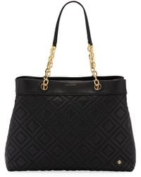 Tory Burch - Fleming Quilted Leather Tote Bag - Lyst