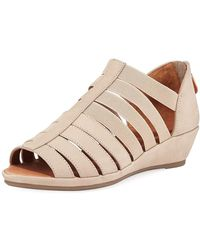 Gentle Souls - Lana Caged Nubuck Leather Sandals - Lyst