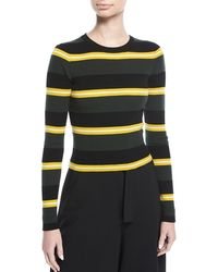 A.L.C. | Shea Crewneck Striped Knit Sweater | Lyst
