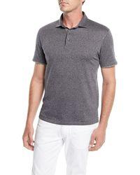 Ermenegildo Zegna - Men's Herringbone Polo Shirt - Lyst