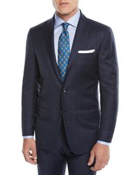 Kiton - Men's Two-piece Three-button Wool Plaid Suit - Lyst
