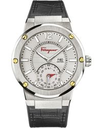 Ferragamo | 44mm F-80 Motion Leather Smartwatch | Lyst
