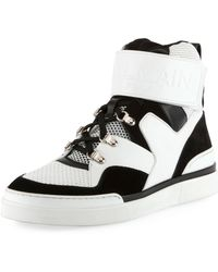 Balmain - Men's Two-tone High-top Sneakers - Lyst