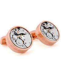 Tateossian - Pink-gold Plated Gear Cuff Links - Lyst