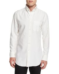 Tom Ford - Tailored-fit Washed Oxford Dress Shirt - Lyst