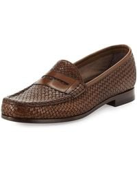 Tom Ford - Neville Woven Leather Penny Loafer - Lyst