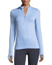 Tory Sport | Seamless Quarter-zip Long-sleeve Pullover Top | Lyst