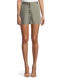 DL1961 - Cortlandt Alley Button-front High-waist Shorts - Lyst