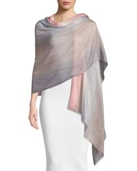 Emporio Armani - Ombre Wool Scarf - Lyst