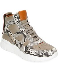 Bally - Birko Snake-effect Leather High-top Sneakers - Lyst