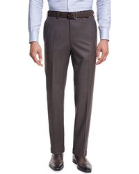 Brioni - Micro-tic Wool Trousers - Lyst