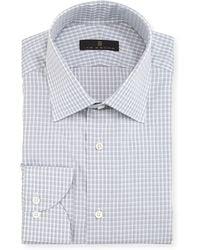 Ike Behar | Gold Label Check Cotton Dress Shirt | Lyst