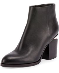 Alexander Wang - Gabi Ankle Booties With Rose Gold Hardware - Lyst