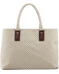 Bottega Veneta - Medium Intrecciato-trim Stamped Rubber Tote Bag - Lyst