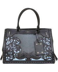 Balmain | Le Panier Denim And Leather Tote Bag | Lyst