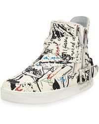 Haculla - Men's Insanity Art High-top Leather Sneakers - Lyst
