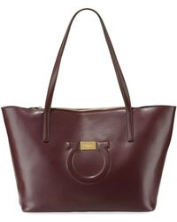 07582a16f1b Lyst - Ferragamo Large Jet Set Shoulder Tote Bag in Natural