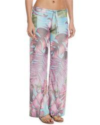 Pilyq - Tropical-print Coverup Lounge Pants - Lyst