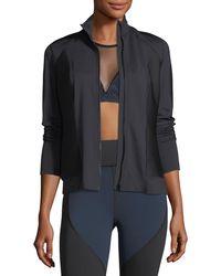Michi - Ignite Mock-neck Zip-front Performance Jacket - Lyst