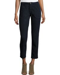 Ba&sh - Sally Cropped Washed Twill Jeans - Lyst