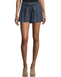 Joie - Pike Chambray Cotton Shorts - Lyst