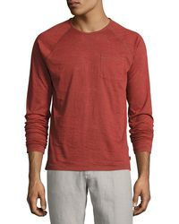 John Varvatos | Long-sleeve Raglan Burnout T-shirt | Lyst