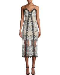 d9cd37dee9af4 Elliatt Venture Embroidered Midi Dress in Black - Lyst