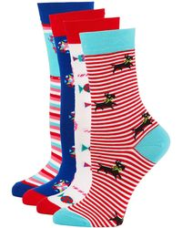 Neiman Marcus - 4-pack Holiday Motif Sock Set - Lyst