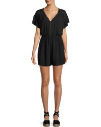 6c312089a0c Seafolly - Ladder-trim Short-sleeve Coverup Romper - Lyst
