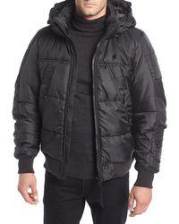 G-Star RAW - Whistler Hooded Puffer Bomber Jacket - Lyst