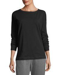 Eileen Fisher - Stretch Jersey Sweatshirt Top - Lyst