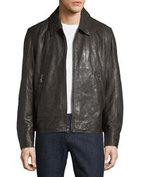 Andrew Marc - Morrison Lambskin Leather Jacket - Lyst