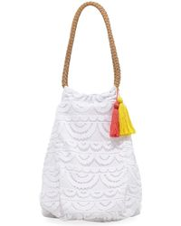 Pilyq - Allison Crocheted Lace Beach Tote Bag - Lyst