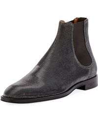 Givenchy - Rider Metallic Textured Chelsea Boot - Lyst