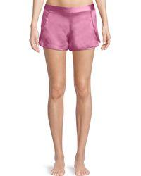 Josie Natori - Key Essentials Silk Lounge Shorts - Lyst