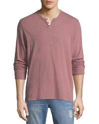 Joe's Jeans - Men's Slub Henley T-shirt - Lyst