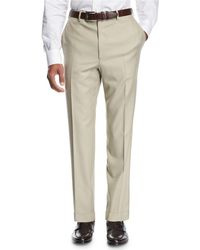 Brioni - Wool Flat-front Trousers - Lyst