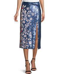Tanya Taylor - Elisa Sequin Vines Skirt - Lyst