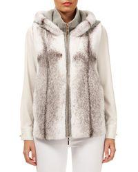 Gorski - Hooded Mink-fur Wool-cashmere Vest - Lyst