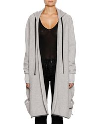 Unravel - Heathered Terry High-low Hooded Jacket - Lyst