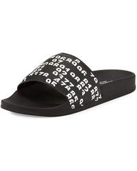 Marcelo Burlon   Lea Leather Pool Slide Sandal   Lyst