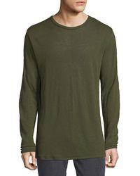 Rag & Bone - Men's Owen Linen Long-sleeve Slub T-shirt - Lyst