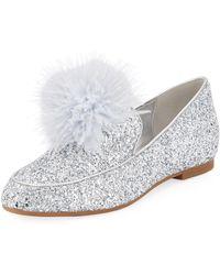 MICHAEL Michael Kors - Fara Glitter Pouf Loafer - Lyst